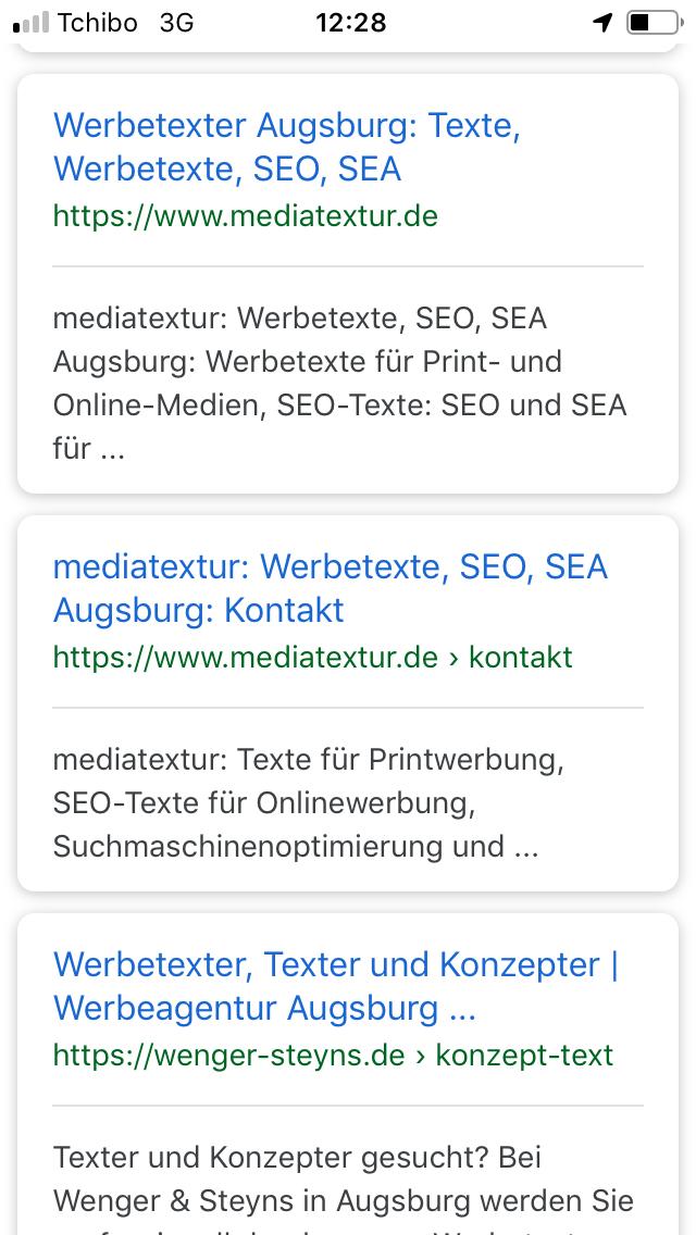 Search-Snippets für mobile Endgeräte werden in der Regel verkürzt